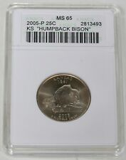 2005-P 25 Cent Humpback Bison Anacs MS 65