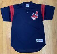 Vintage Cleveland Indians Mesh BP Spring Training Jersey Chief Wahoo Medium USA
