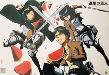 Attack On Titan Poster #C7 Eren Yeager Levi Ackerman Bertolt Mikasa