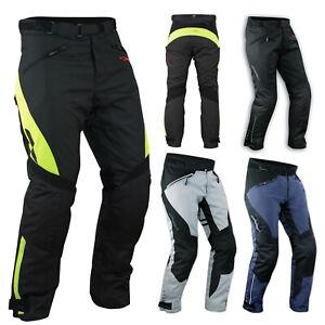 Pantaloni Impermeabile Moto Imbottitura Termica Estraibile Traspirante Cordura