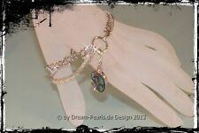 ♥ Dream-Pearls Armband Charmträger Charm Anhänger 4-reihig silber 19,5cm + 3cm ♥