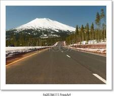 Road To Mt. Bachelor Art Print / Canvas Print. Poster, Wall Art, Home Decor - D