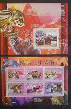 Briefmarken Katzen Guinea Bl.+Kb.,postfrisch