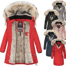 Navahoo Premium Luxus Parka Mantel Winter Jacke Damen Mega Kunstfell Daylight
