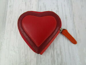 Visconti Genuine Leather Heart shaped zipped coin purse valentines gift pocket