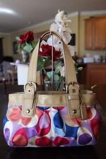 COACH  F13798 Soho Pleated Scarf Print purse bag (PU900