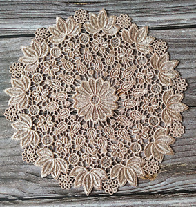 Round Floral Embroidery Lace Table Placemat Party Home Decor Dining Doily Cover