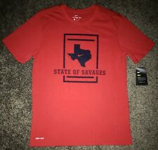 """NWT high quality NIKE DriFit Texas """"State of Savages"""" men's shirt size: M, $40"""