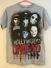 HOLLYWOOD UNDEAD Vintage Rap Metal Rock Music Star Gray T-Shirt - Adult Small