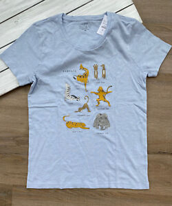 "J. Crew Factory Women's ""Safari Yoga"" Collector's T Shirt - Blue - NWT"