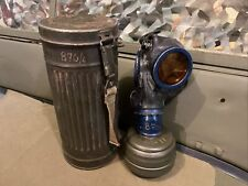 German Wwii Gas Mask And Canister, Many Stamps & Marks,
