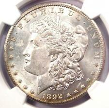1892-CC Morgan Silver Dollar $1 - Certified NGC Uncirculated Detail (UNC MS)!