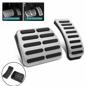 For Volkswagen Golf Car Accelerator Brake Pedal Cover Stainless Steel Pads 2PCS