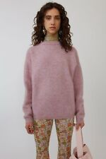 Authentic Acne Studios Dramatic Mohair Oversize Sweater Dusty Pink Size M