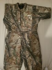 Men's hunting coverall (realtree) 2XL by Scent Shield with orange face mask