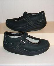 MBT Women's KAYA Black Nubuck Mary Jane Casual Loafers Sneakers 8.5 US / 39 EUR