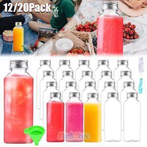 BPA-Free Plastic Juice Bottles w/ Leak-proof Caps - 11oz 20 Pack Drink Container