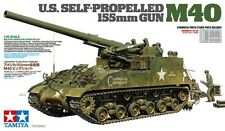 Tamiya 35351 1/35 US Self-Propelled 155mm Gun M40 w/Photo-Etched Parts+8Figures