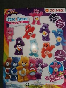 Scented Care bears 3D, 8 x Figurines Charms Vanilla Scented Ideal Party Bag