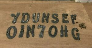 Vintage Slate Cast House Letters/ Number Bundle Lot- Crafts/ Country House