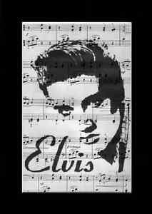 ELVIS PRESLEY Vintage Sheet Music Art Print Upcycled & Unique
