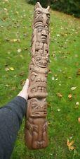 """Signed Myron Barnes (Tlingit) Native Hand Carved Totem - 24.5"""" Tall"""