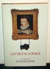 Lettice & Lovage Peter Shaffer (Harper & Row, 1990) 1st American Ed. HCDJ