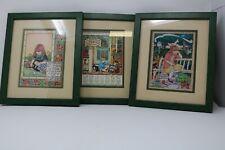 Set of 3 Mary Engelbreit Wood Framed Prints