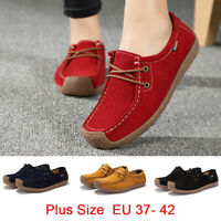 Ladies Women Casual Flats &Oxfords Loafers Lace Up Moccasin Ballet Boat Shoes