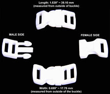 10 - 1/2 Inch White Economy Contoured Side Release Plastic Buckles