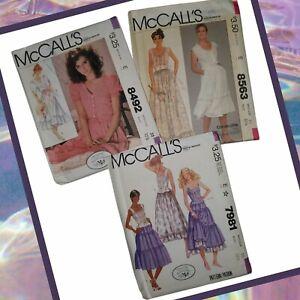 McCALL's Sewing Patterns CAROLE LITTLE LAURA ASHLEY Dress 8492 7981 8563 Size 10