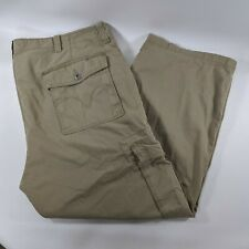 Levis Cargo Khaki Loose Straight Pants Cotton Mens Size 50x32