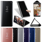 For Huawei Mate 10/P10 Lite Clear View Mirror Leather Slim Flip Stand Case Cover