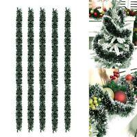 5Pcs Christmas Garland 2M Party Green Ribbon Xmas Tree Ornament Decor PVC Home