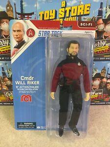 "2021 Mego Sci-Fi TNG Star Trek Classic COMMANDER WILL RIKER 8"" Action Figure MOC"