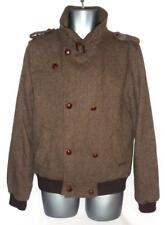 "Scotch & Soda Mezcla de Lana Doble Abotonadura PEA Coat Marrón check-Grande 40"" pecho"