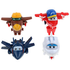 4pcs Mini Super Wings Robot Airplane Transformer Animation Character Kids Toy AU