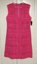 NWT Nanette Lepore Alicia's dress fiesta pink shadow stripe sz 8 $348