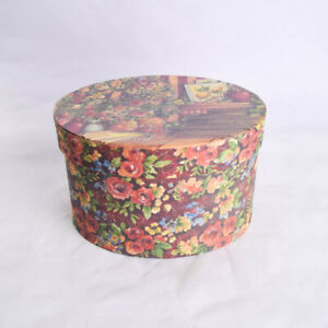 Bob's Boxes Lang Oval Gift Box My Favorite Things by Shelly Reeves Smith Floral