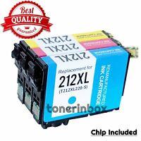 3pk 212XL T212XL CMY Ink Cartridge For Epson 212 WF-2830 WF-2850 XP-4105 XP-4100