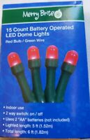 CVS MERRY BRIGHT 15 COUNT BATTERY OPERATED LED DOME  Multi  BULB// Green Wire