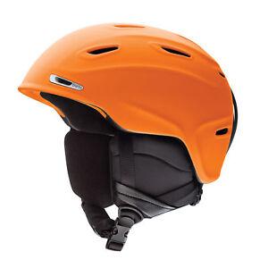 Smith Ski Helmet Snowboard Aspect Orange Lightweight Plain Colour Ventilation