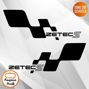 2 x Zetec s ZS Focus fiesta vinyl stickers decals Side Sticker Decal 11 Inches