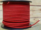 Red 2-Wire Cloth Covered Cord, 18ga. Vintage Style Lamps Antique Lights, Cotton