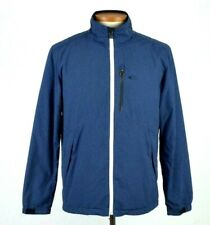 Oakley Blue Soft Shell Jacket Zip Bomber Lightweight Hike Camp Trail Mens Size M
