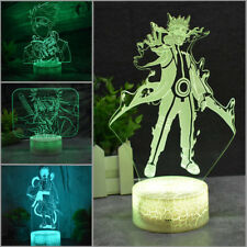 Narut# Uchiha Sasuke Acrylic Night Light  3D LED Home Decor Table Lamp Xmas Gift