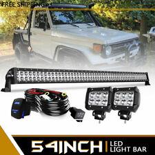 "54"" 312W LED Work Light 4"" 18W LED Lights Bar For SUV Truck JEEP Wrangler ZM9"