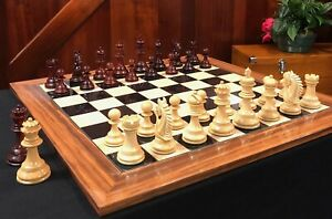 Chesterfield Series Chess Set - Luxury Wood  4.4 King - Blood Rosewood & Boxwood