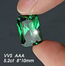 5.2ct Synthetic MINED Colombia Green Emerald Diamond Shape Cut VVS AAA Loose Gem