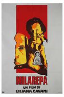 Liliana Cavani MILAREPA manifesto 2F originale 1973 BUDDA TIBET SPIRITUALITA'